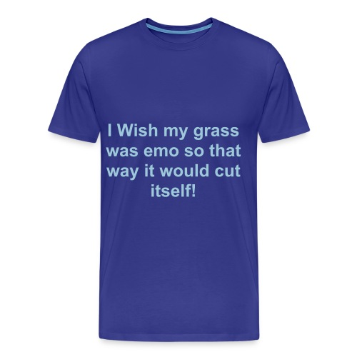 Emo Grass-Blue - Men's Premium T-Shirt