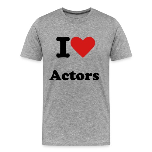 I heart actors - Men's Premium T-Shirt