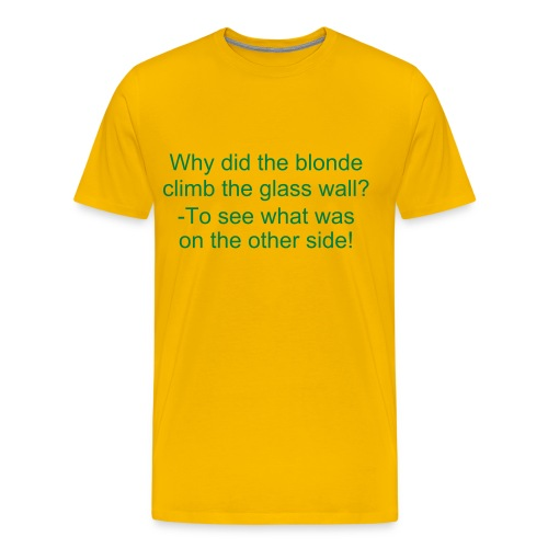 Blonde glass wall shirt-yellow - Men's Premium T-Shirt