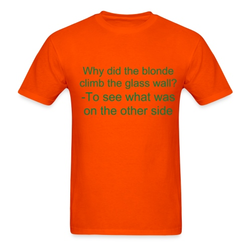 Blonde glass wall shirt-orange - Men's T-Shirt