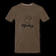 T-Shirts ~ Men's Premium T-Shirt ~ Men's Brown Updog
