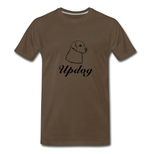 Men's Brown Updog - Men's Premium T-Shirt