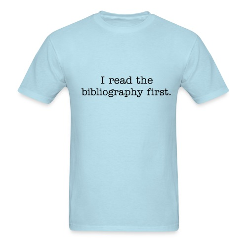Like footnotes as much as I do?  Get this shirt. - Men's T-Shirt