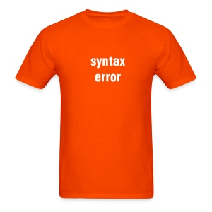 Syntax error - orange/white - Men's T-Shirt
