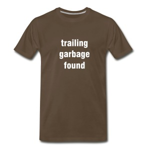 Trailing garbage found - chocolate/white - Men's Premium T-Shirt
