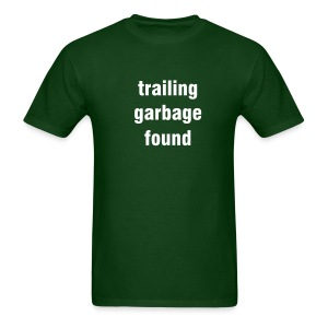 Trailing garbage found - forest green/white - Men's T-Shirt
