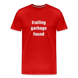 Trailing garbage found - red/white - Men's Premium T-Shirt