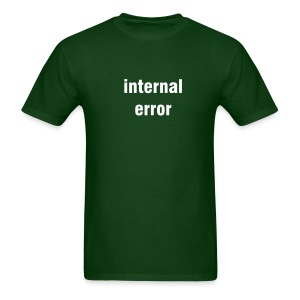 Internal error - forest green/white - Men's T-Shirt