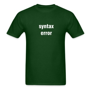 Syntax error - forest green/white - Men's T-Shirt