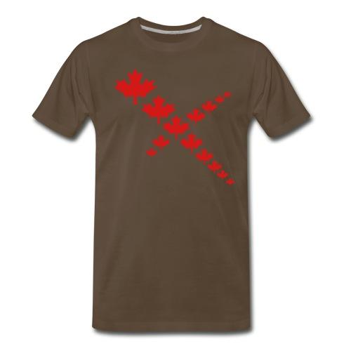 Maple Leaf Cross - Men's Premium T-Shirt