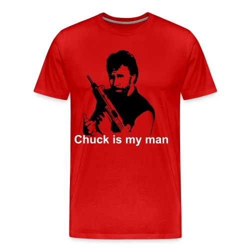 Chuck is my man - Men's Premium T-Shirt