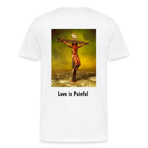 Love is Painful - Back - Men's Premium T-Shirt
