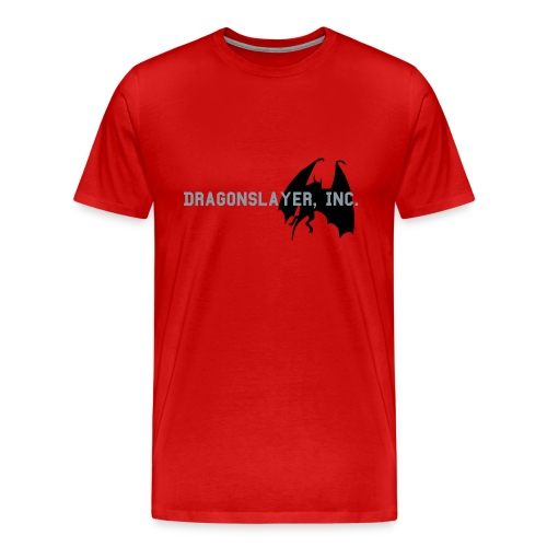 Dragonslayer, Inc. Shirt (Red) - Men's Premium T-Shirt