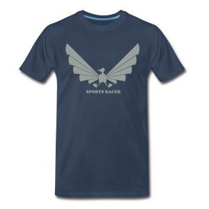 LOA - grey on navy - Men's Premium T-Shirt