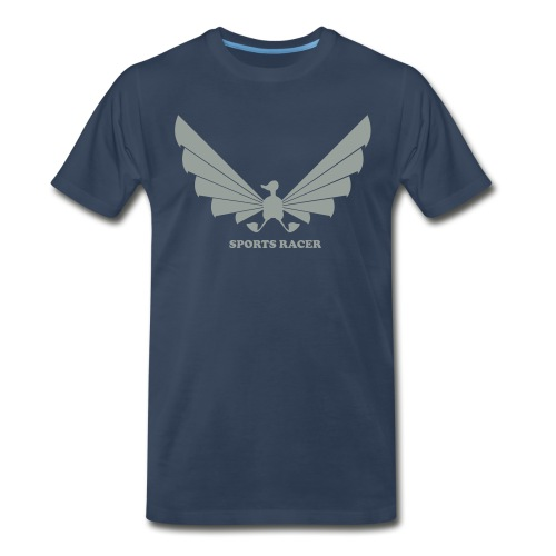 LOA - grey on navy - Men's Premium T-Shirt