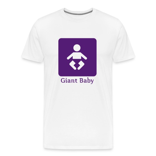giant baby - purple on white - Men's Premium T-Shirt