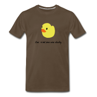 T-Shirts ~ Men's Premium T-Shirt ~ duckie - brown