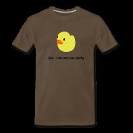 T-Shirts ~ Men's Premium T-Shirt ~ duckie - brown