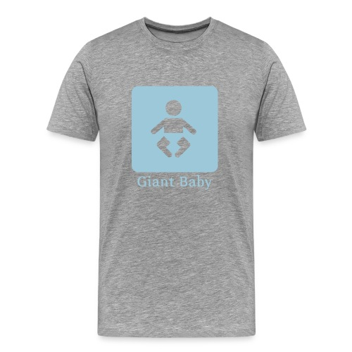 giant baby - blue on white - Men's Premium T-Shirt