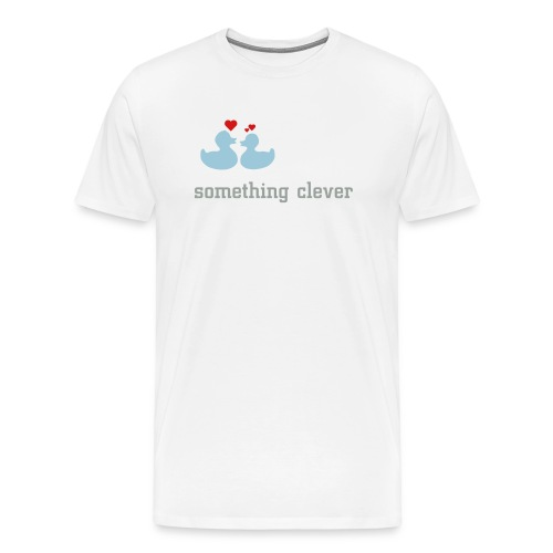 duckies of love - click to customize text - Men's Premium T-Shirt