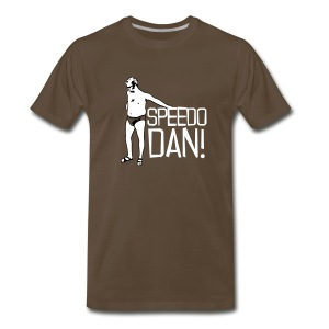 Men's Brown Speedo Dan - Men's Premium T-Shirt