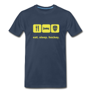 T-Shirts ~ Men's Premium T-Shirt ~ Eat. Sleep. Hockey.