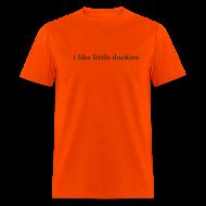 T-Shirts ~ Men's T-Shirt ~ duckies - brown on orange