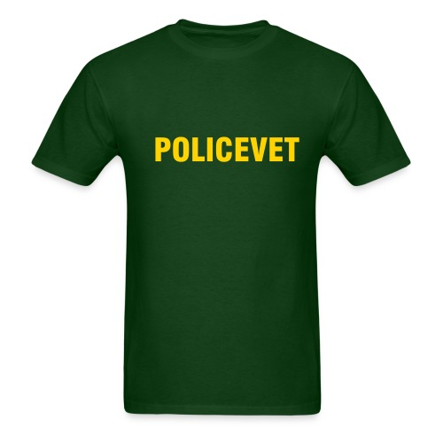 Policevet's Heavyweight Cotten Tee Shirt - Men's T-Shirt