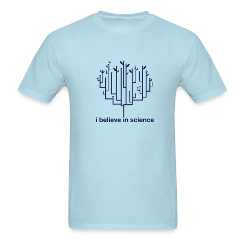 Tree of Life: Light Blue (Navy) - Men's T-Shirt