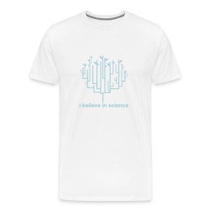 Tree of Life: White (Blue) - Men's Premium T-Shirt