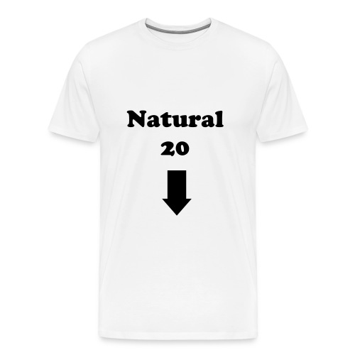 'Natural 20' T-Shirt (White) - Men's Premium T-Shirt