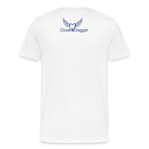 Enviroment Tee (White/Roal Blue) - Men's Premium T-Shirt