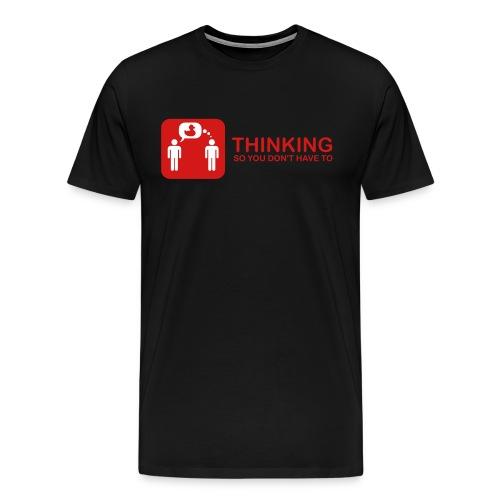 thinking - red on black - Men's Premium T-Shirt