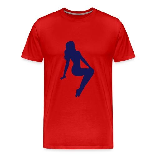 Sitting Women Heavyweight cotton T-Shirt - Men's Premium T-Shirt