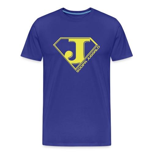 Soopa Juggalo (yellow art) - Men's Premium T-Shirt