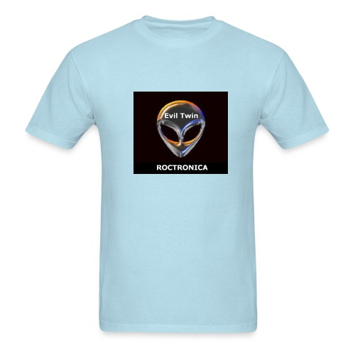Heavy Sky Blue Chrome Evil Twin - Men's T-Shirt