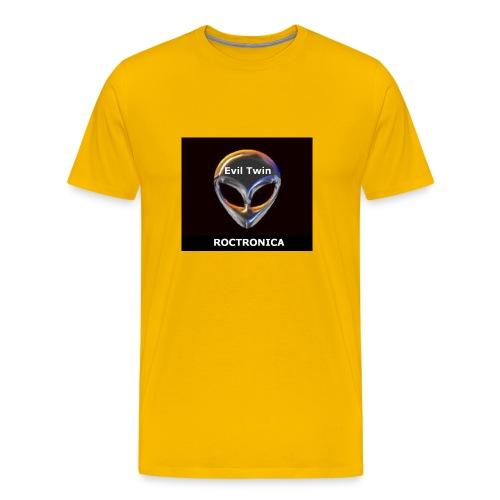 Heavy Yellow Chrome Evil Twin - Men's Premium T-Shirt