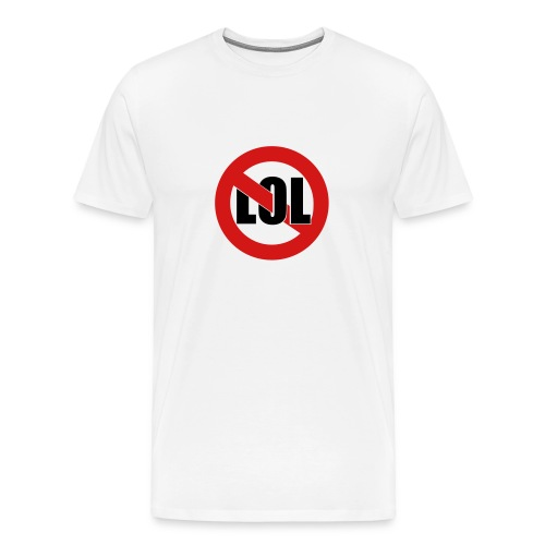 LOL White - Men's Premium T-Shirt