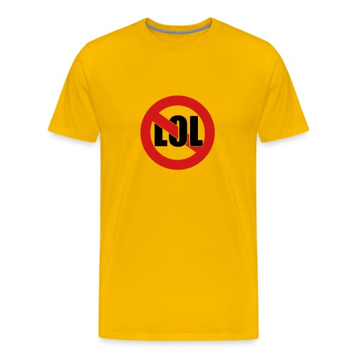 LOL Yellow - Men's Premium T-Shirt