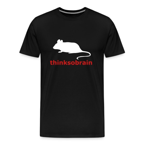 thinksobrain rat t-shirt - Men's Premium T-Shirt