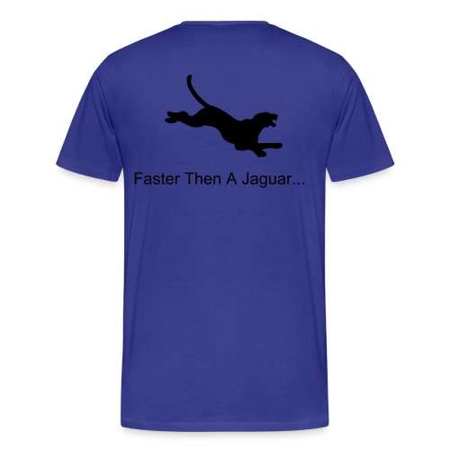 faster then a jaguar  -blue - Men's Premium T-Shirt