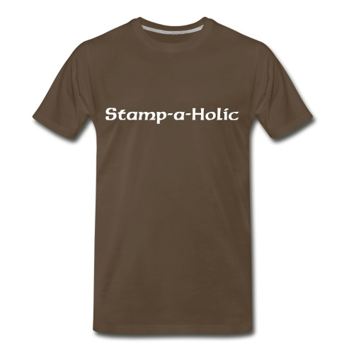 Stamp-a-Holic BW - Men's Premium T-Shirt