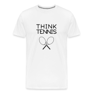 T-Shirts ~ Men's Premium T-Shirt ~ think.tennis (white)