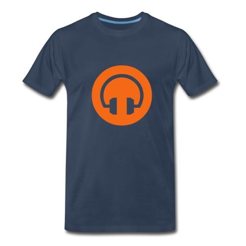 orange headphones - Men's Premium T-Shirt