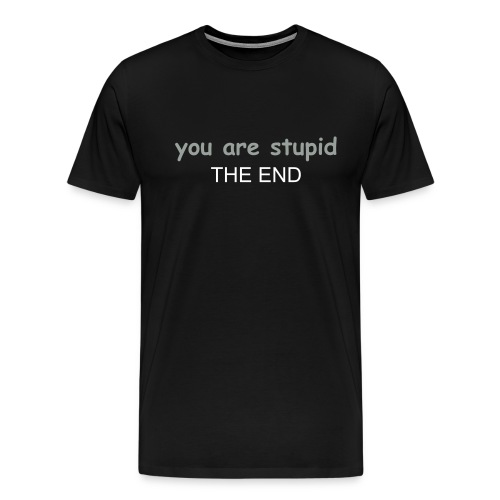 you are stupid the end - Men's Premium T-Shirt
