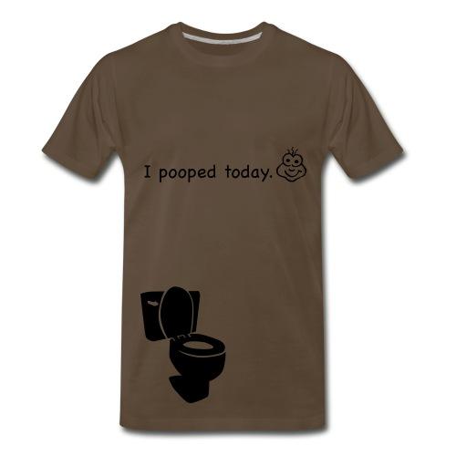 I pooped today T-shirt - Men's Premium T-Shirt