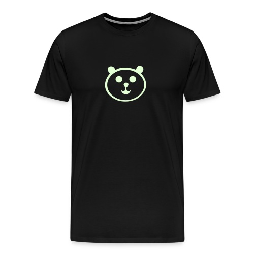 glow in the dark panda - Men's Premium T-Shirt