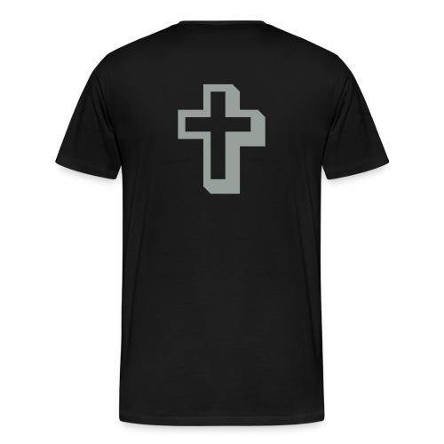 Silver on Black Hvy - Men's Premium T-Shirt