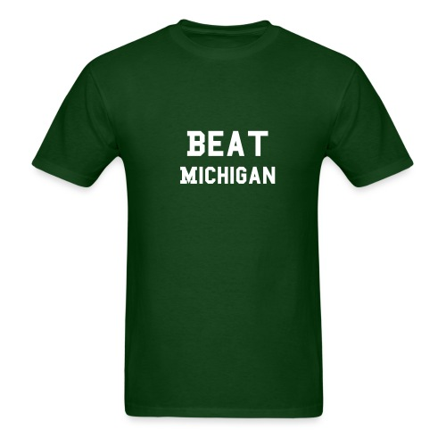 Beat Michigan 2-Line - Men's T-Shirt