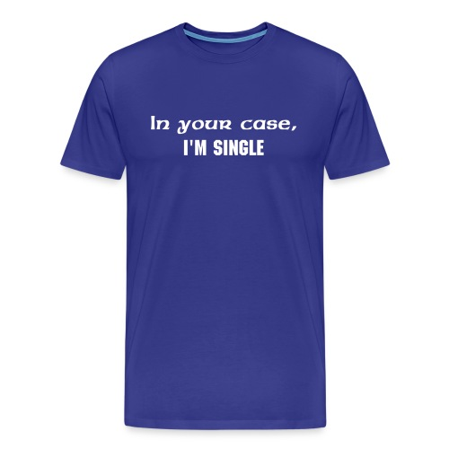 BlueTAG-I'm single - Men's Premium T-Shirt